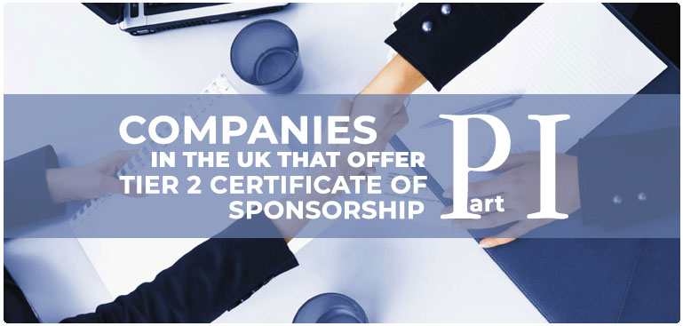 Find companies that provide Tier 2 certificate sponsorship to students, part 1