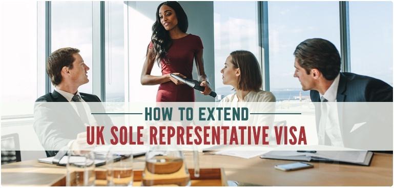 Requirements to extend Sole Representative visa