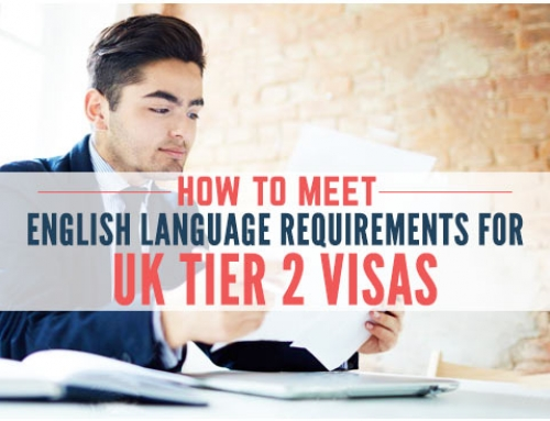 How to meet the English language Requirement for UK Tier 2 Visas – 2019