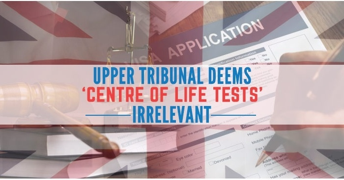 The Upper Court considers ' centre of life test ' inappropriate