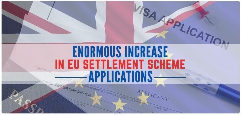 Enormous increase in EU settlement scheme applications